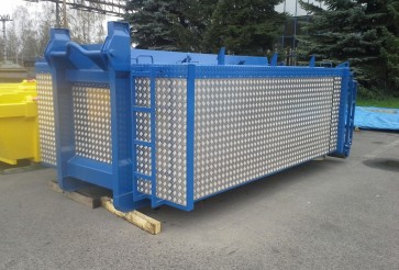 Thermo-insulating roll-off containers